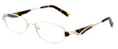 Calabria Designer Eyeglasses 824 Gold :: Custom Left & Right Lens