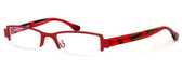 Harry Lary's French Optical Eyewear Bloody Eyeglasses in Red (360) :: Custom Left & Right Lens