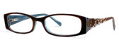 Calabria Viv 695 Designer Eyeglasses in Brown-Blue :: Rx Single Vision