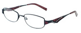 Calabria Designer Eyeglasses 824 Black :: Rx Single Vision