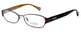 Coach Womens Designer Eyeglasses 5018 in Satin Brown (9076) :: Rx Single Vision