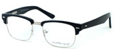 Ernest Hemingway Eyeglass Collection 4629 in Gloss Black & Silver :: Rx Single Vision