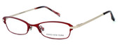 Jones New York Designer Eyeglasses J468 Red :: Rx Single Vision
