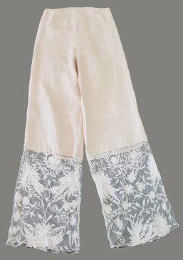 Flora lace hemmed trousers