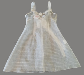 Trapezium dress - Ivory snubbed silk organza