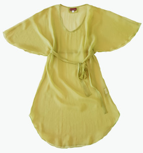 Manta Lime silk chiffon dress