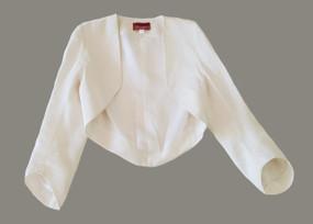 Mel off-white silk linen bolero
