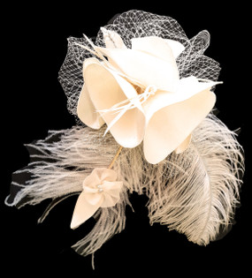 Bridal Admiral Silk Duchess Fascinator