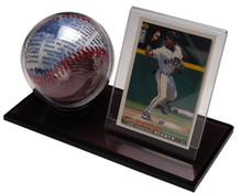 Acrylic Baseball & Card Holder - OUT OF STOCK