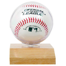 Wood Base Baseball Holder