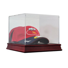 Deluxe Acrylic Wood Base Baseball Cap Hat Display Case - OUT OF STOCK