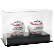 Acrylic Double Baseball Display Case - OUT OF STOCK