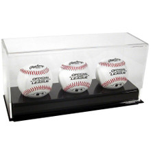 Acrylic Triple Baseball Display Case - OUT OF STOCK