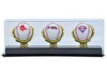 Acrylic Triple Gold Glove Baseball Display Case - OUT OF STOCK
