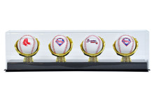 Acrylic Four Gold Glove Baseball Display Case - OUT OF STOCK