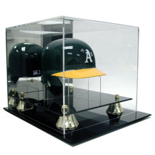 Deluxe Acrylic Mini Baseball Helmet Display Case w/Stand - OUT OF STOCK