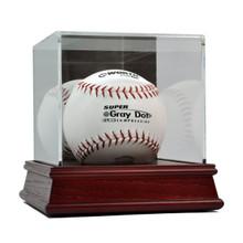 Deluxe Acrylic Wood Base Softball Display Case
