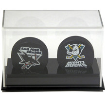 Acrylic Double Hockey Puck Display Case - OUT OF STOCK