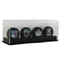Acrylic Four Hockey Puck Display Case - OUT OF STOCK