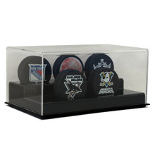 Acrylic Five Hockey Puck Display Case