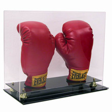Deluxe Acrylic Vertical Double Boxing Glove Display Case - OUT OF STOCK