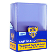 3 X 4 Premium 2.75 mm Thick Toploader - 108pt (10 per pack) - OUT OF STOCK