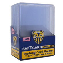 3 X 4 Premium 3.5 mm Thick Toploader - 138pt (10 per pack) - OUT OF STOCK