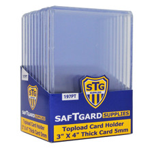 3 X 4 Premium 5 mm Thick Toploader - 198pt (10 per pack) - OUT OF STOCK
