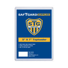 5 X 7 Toploader (25 per pack) - OUT OF STOCK