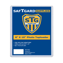 8 X 10 Toploader  (25 per pack) - OUT OF STOCK