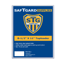 8-1/2 X 11 Toploader (25 per pack) - OUT OF STOCK