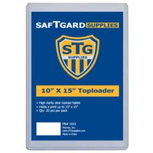 10 X 15 Toploader (20 per pack)