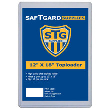 12 X 18 Toploader (10 per pack) - OUT OF STOCK