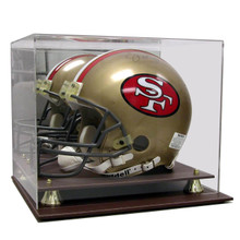 Executive Acrylic Leather Base FS Football Helmet Display Case - OUT OF STOCK
