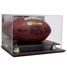 Executive Acrylic Leather Base Full Size Football Display Case - OUT OF STOCK
