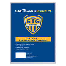 11 X 15 – 7mm LIFE MAGAZINE TOPLOADER (10 PER PACK) - OUT OF STOCK