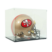 High Clarity Acrylic Football Helmet Display Case - Clear Back