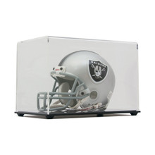 High Clarity Acrylic Mini Football Helmet Display Case - Clear Back - OUT OF STOCK