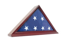 Wood Base Acrylic Flag Display Case - OUT OF STOCK