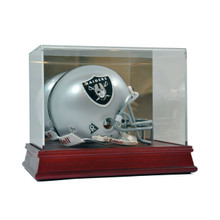 Deluxe Acrylic Wood Base Mini Helmet Display Case - OUT OF STOCK