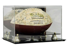 Deluxe Acrylic Football Display Case - Mirror Back