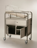 NK Medical NB-SSxDC Bassinet with Drawer and Cabinet
