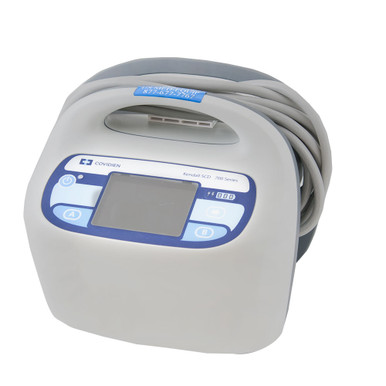 The refurbished Covidien Kendall SCD™ 700 series controller, for purchase or rental, is the latest compression technology from Covidien, delivering clinically proven sequential, gradient, circumferential compression (to the leg, foot or both simultaneously) to help prevent deep vein thrombosis (DVT) and pulmonary embolism (PE).