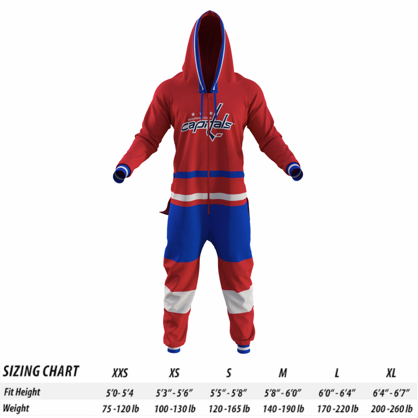 349399a6c15 Washington Capitals NHL Onesie - Hockey Sockey