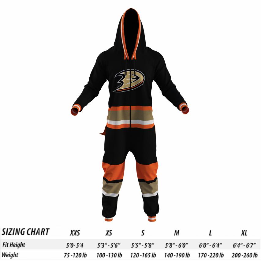 4dbc407136c Anaheim Ducks NHL Onesie - Hockey Sockey