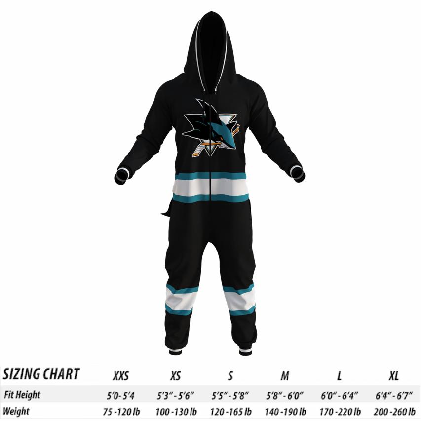 50d2b4d5f5 San Jose Sharks NHL Onesie - Hockey Sockey