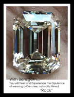14.22 Benzgem by GuyDesign® Most Believable and Realistic 14.22 Ct. Emerald Cut... Designed, Hand Cut, and Polished as Real Diamonds are.