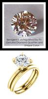 1.91 Custom Benzgem by GuyDesign®, Luxury, G-H-I-J Diamond Quality 1.91 Carat H&A Round Cut, Modern Tiffany Alternative Solitaire, 14 Karat Gold Engagement Ring, 10192