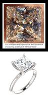 3.81 Custom Benzgem by GuyDesign®, Luxury, G-H-I-J Diamond Quality Quadrillion Princess Cut, Modern Tiffany Alternative Solitaire, Completely Bespoke Engagement Ring, 10193