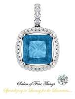 A Princess Cut, Swiss Blue Topaz featured on a GuyDesign® Ladies Pendant DG869242.91020000.429682